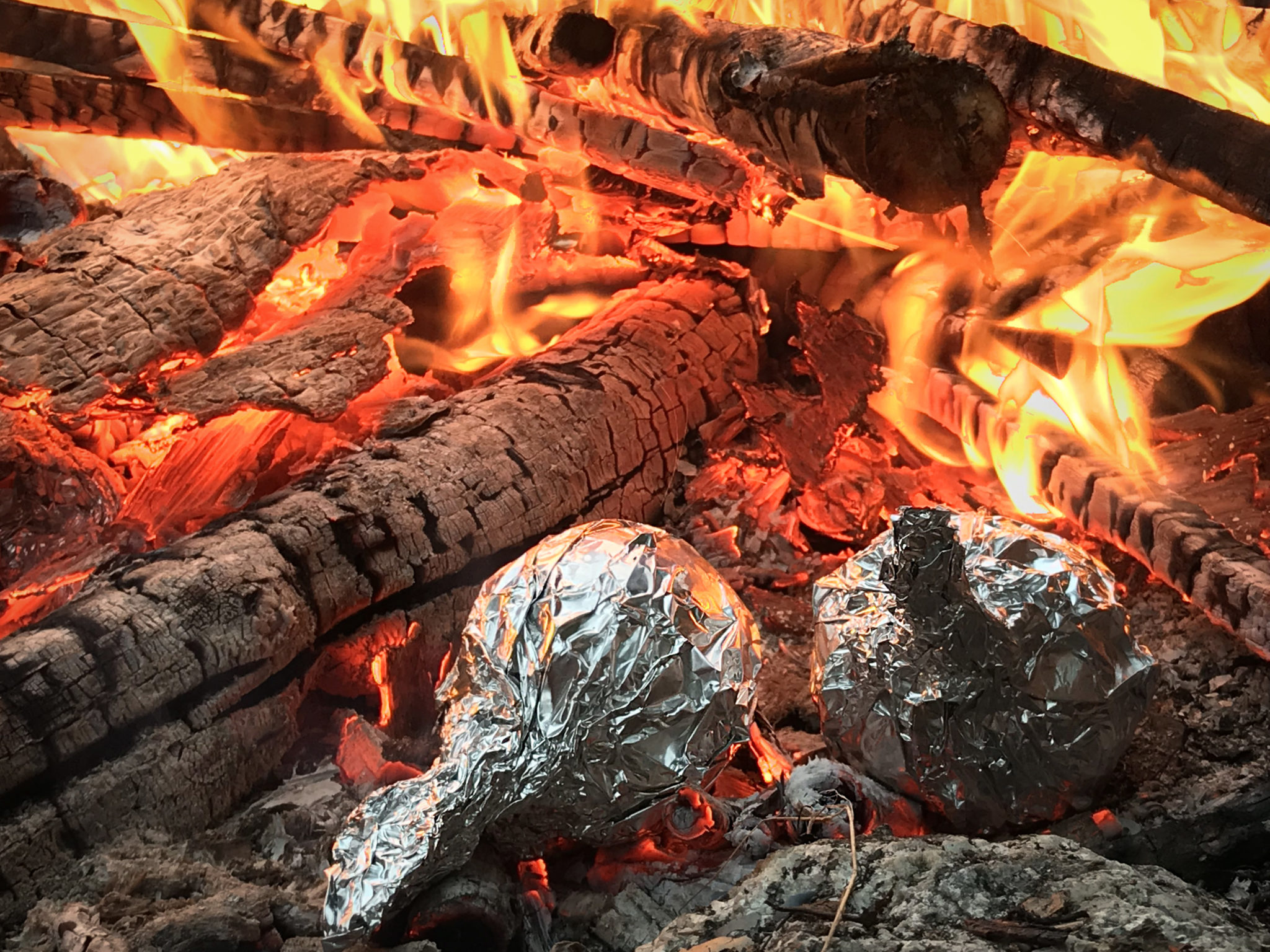 How to make campfire baked apples