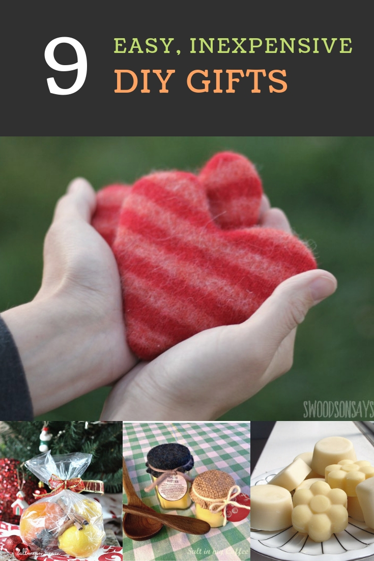 9 Easy, inexpensive homemade gifts